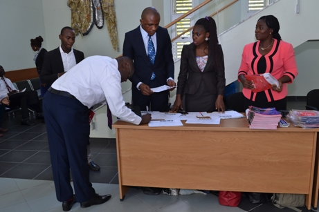 Guest Registering at the venue for 2017 Graduation Ceremony