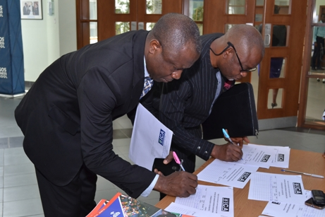 Guest Registering at the venue of the 2017 Graduation Ceremony